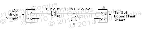 X-10 Trigger Voltage Delay Circuit