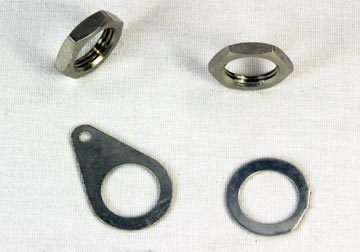 Mounting nuts and washers