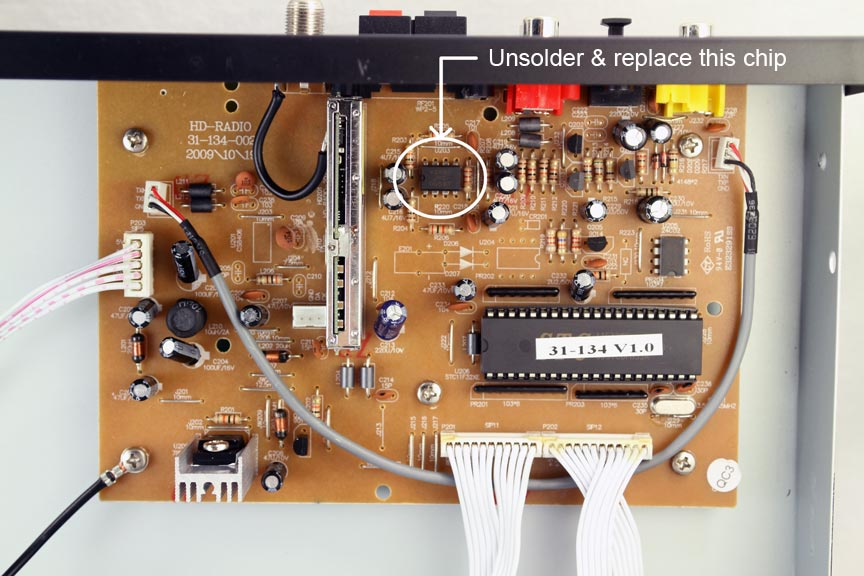auvio hd radio tuner mod improves analog output's sound the antique radio diagrams the chip to replace