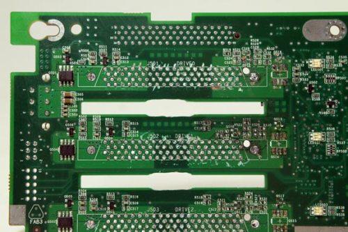 Connectors off, vent holes enlarged