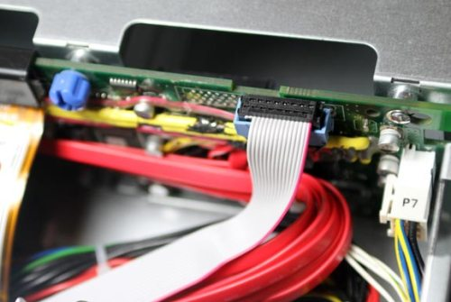 LED cable attached