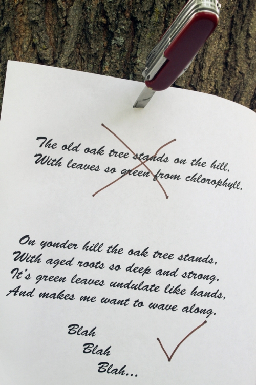 My poem about an oak tree.